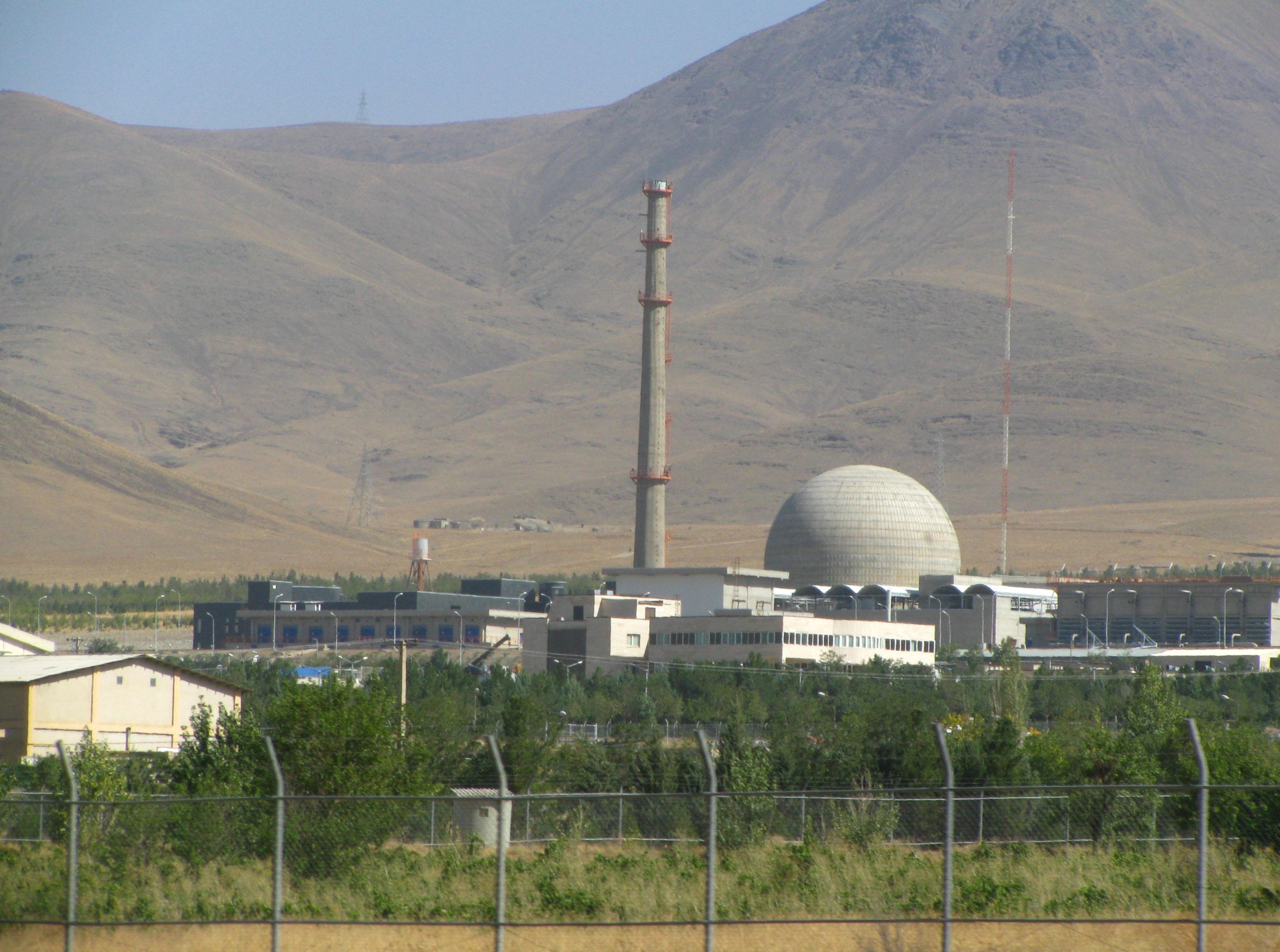 The Arak heavy water plant in Iran
