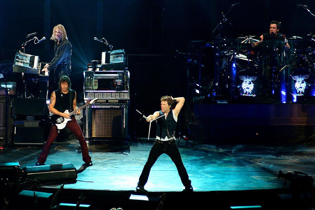 Bon Jovi perform on stage
