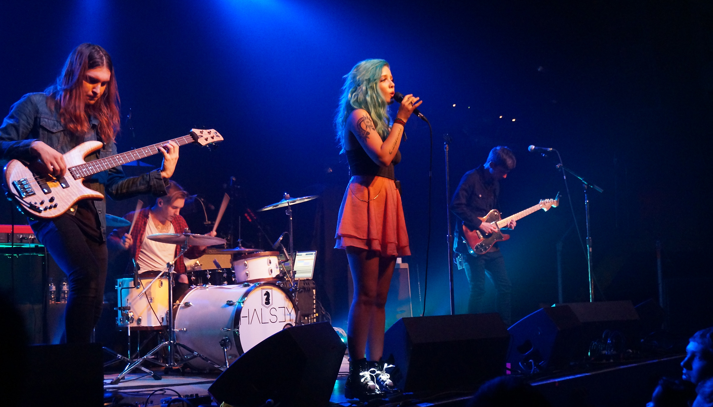 Halsey performs on her Youth tour.