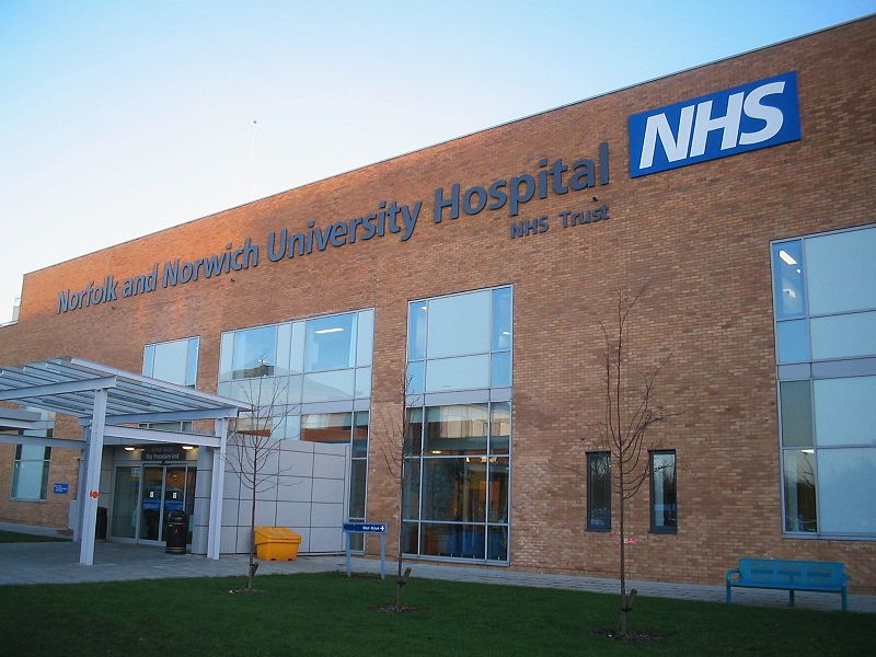 NNUH. Photo: Wikimedia, Francis Tyers