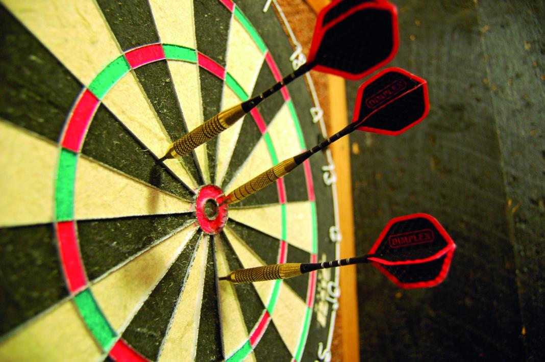 Darts in a dartboard. Photo: Wikimedia, PeterPan23