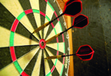 Darts in a dartboard. Photo: Wikimedia, PeterPan23