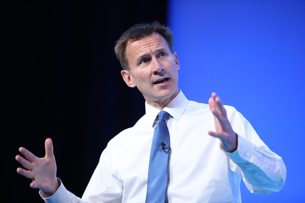 Jeremy Hunt. Photo: NHS Confederation, Flickr