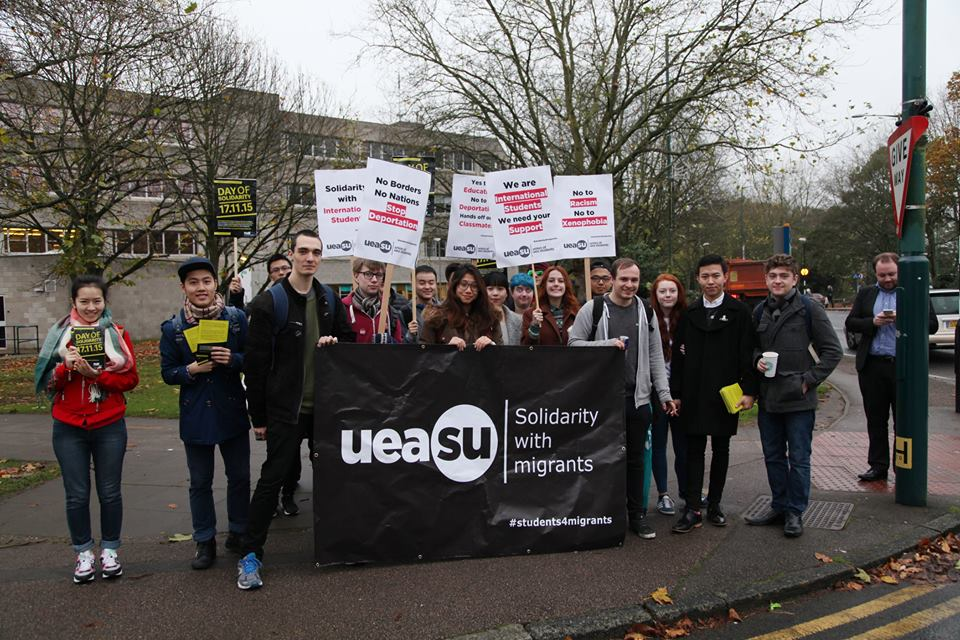 Union of UEA Students Solidarity Walk Out. Photo: Junyu Zhang