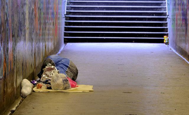 Homeless in Norwich. Photo: Albert Bridge, geography.co.uk
