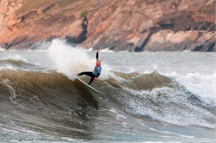 Peony Knight, Youth Surf Champion. Photo: Rob Tibbles