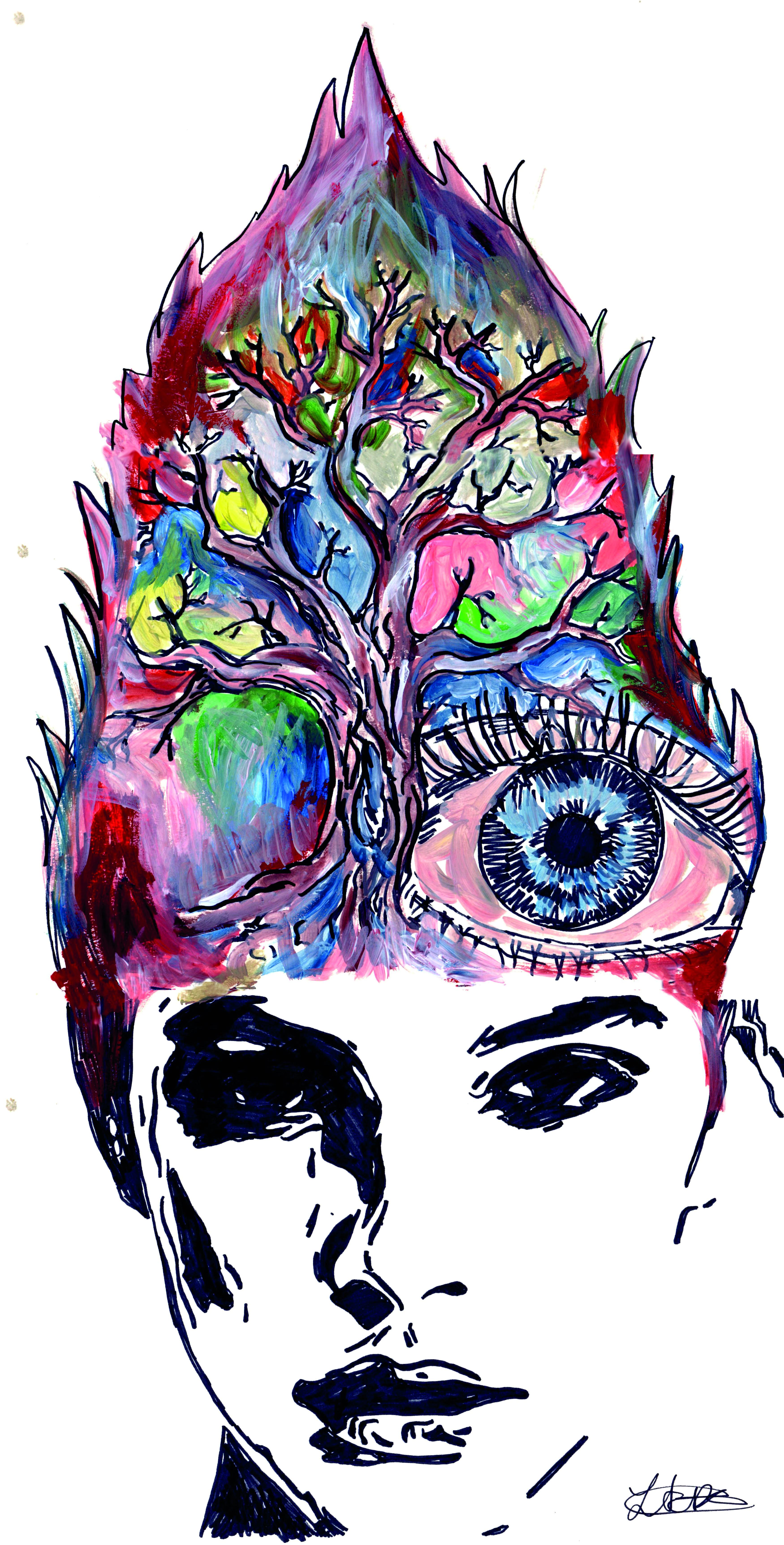 Art and Mental Illness. Illustration: Lucinda Swain for Concrete.Art and Mental Illness. Illustration: Lucinda Swain for Concrete.
