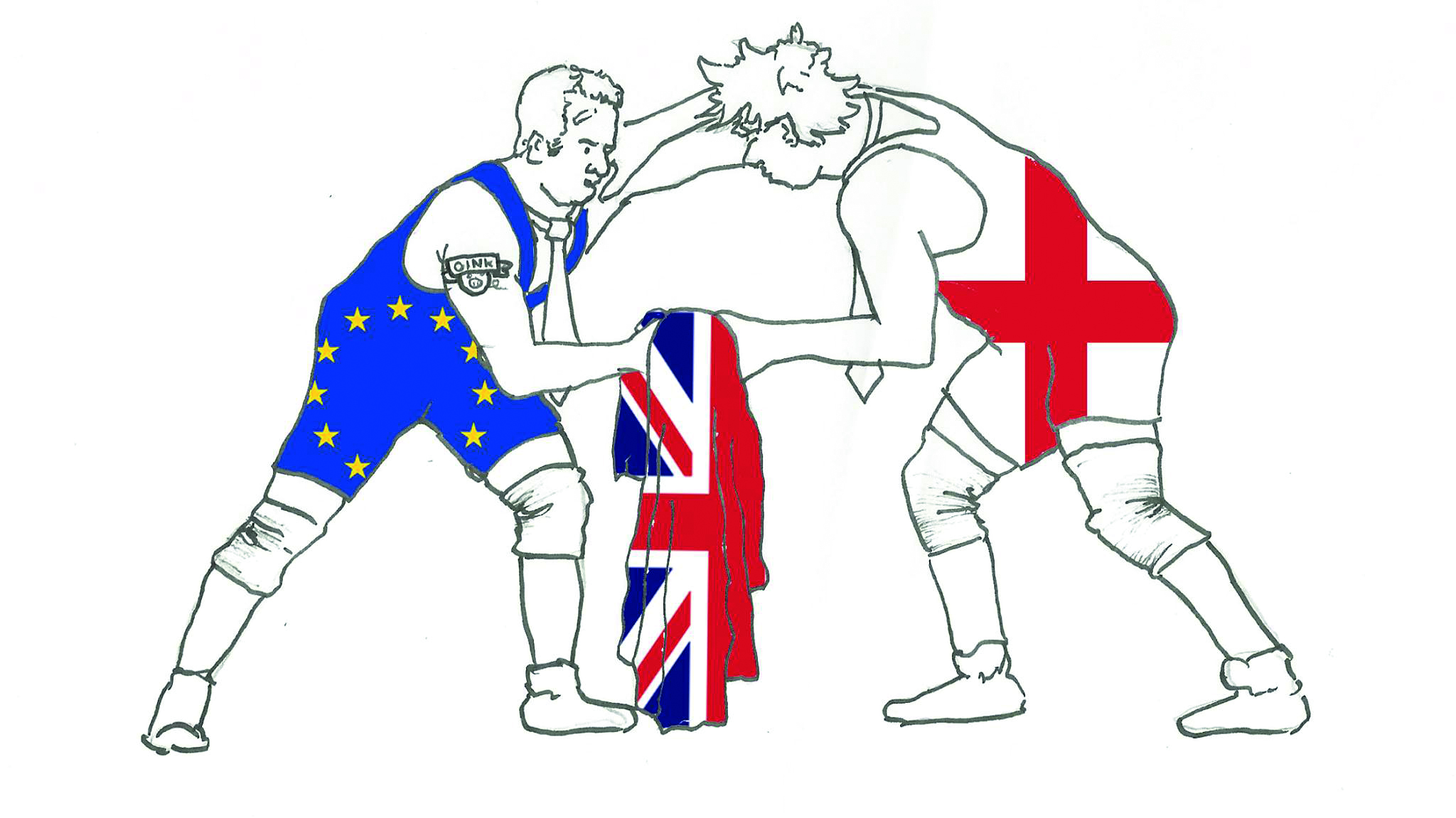 EU Referendum. Illustration: Dougie Dodds for Concrete