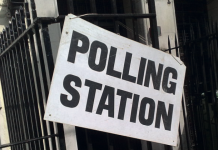 Polling Station sign Photo: Secret London