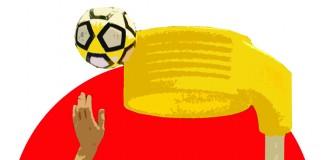 Korfball illustration, Dougie Dodds