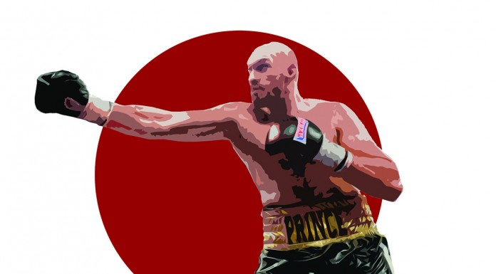 Tyson Fury, illustrated by Dougie Dodds