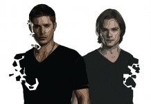 sam-and-dean illustration by Dougie Dodds