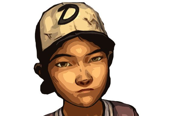 Clementine from The Walking Dead, illustrated by Kirsty McAlpine