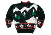 TheUglySweaterShop.com - Flickr: Vintage 80s Mountain Range Tacky Acrylic Ugly Christmas Sweater