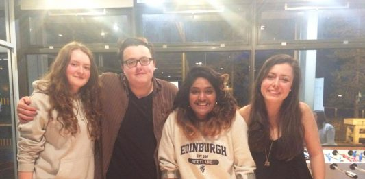 (L-R) India Edwards, Jack Robinson, Camille Koosyial and Mary Leishman