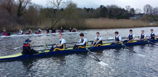 UEA men's rowers in action on Sunday. Picture: ieuan.