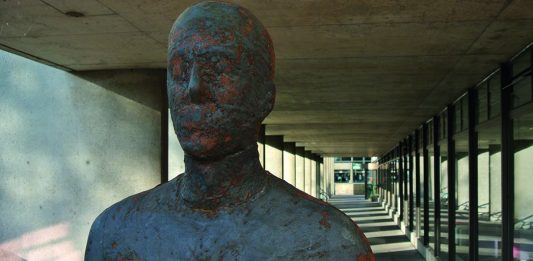 One of Anthony Gormley's statues, Megan Baynes