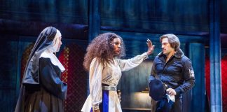 Alexandra Burke as Deloris Van Cartier in Sister Act: Norwich Theatre Royal