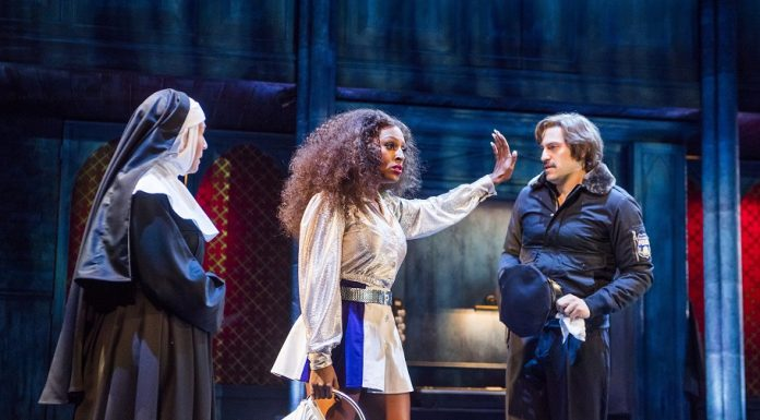 Alexandra Burke as Deloris Van Cartier in Sister Act: Norwich Theatre Royal
