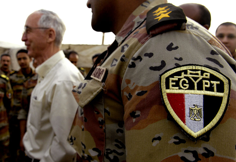 Egyptian military, Wikimedia Commons US DoD