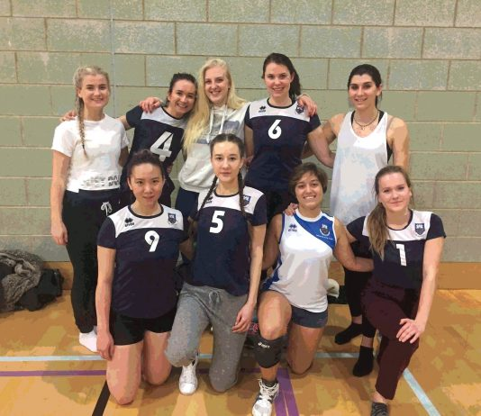 UEA ladies volleyball team by beth papworth