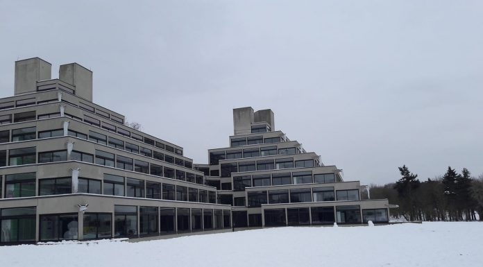 snow ziggurats uea campus by Alex Millard