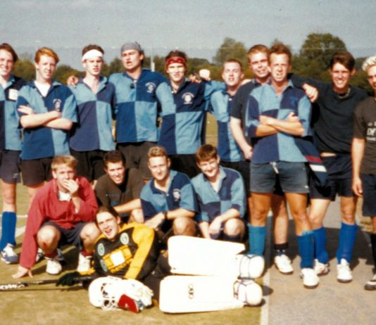 UEA Hockey Club, 1997. Image provided by Johnny Downer.