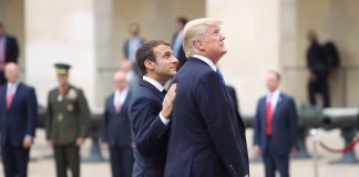 Donald Trump and Emmanuel Macron, wikimedia commons