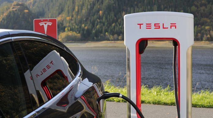 Tesla Model X Charging Tesla Supercharger from Max Pixel