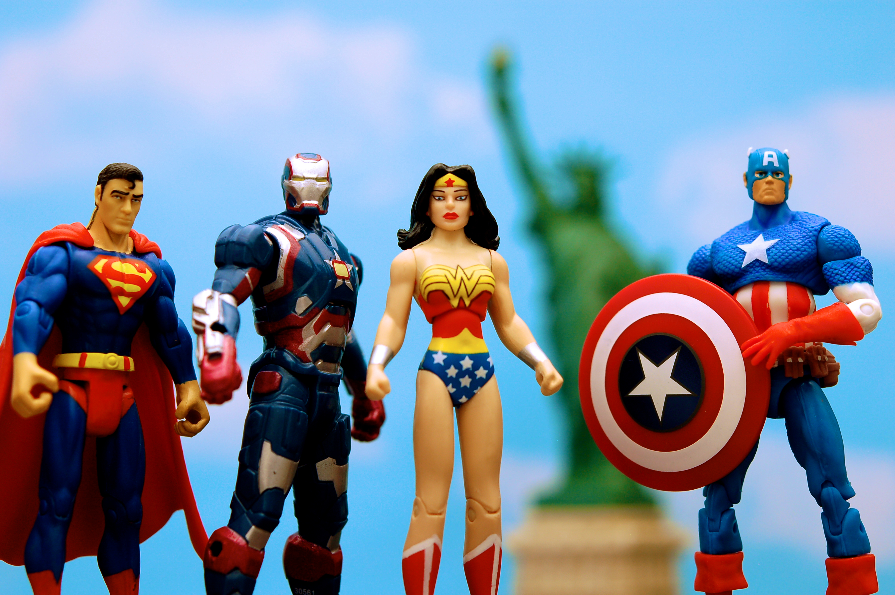 A number of superheroes