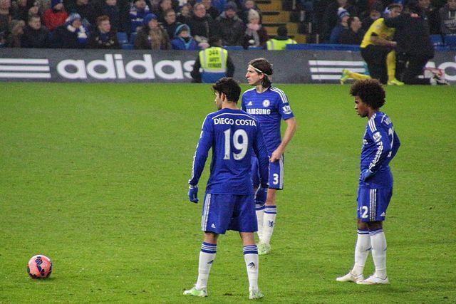 Diego Costa Free Kick. Photo, Wikimedia