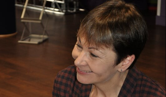 Caroline Lucas at UEA. Photo: BillieMay Jones, Concrete Photography