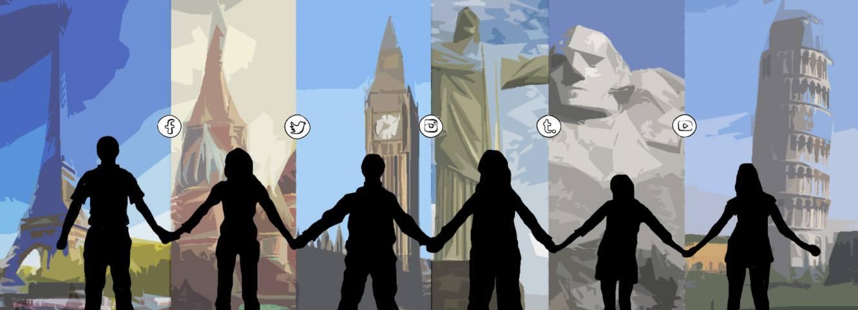 Social Media and Terrorism. Illustration: Dougie Dodds for Concrete.
