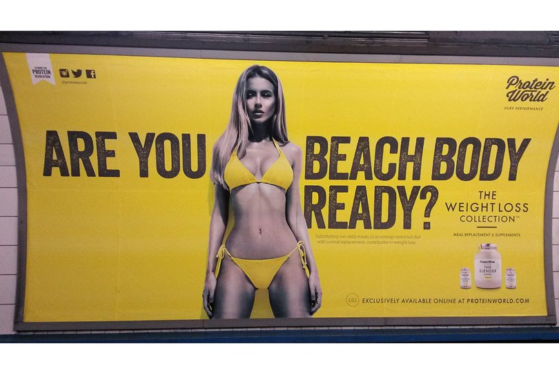 ProteinWorld's advert that caused controversy last year. Photo: Pamela Graham
