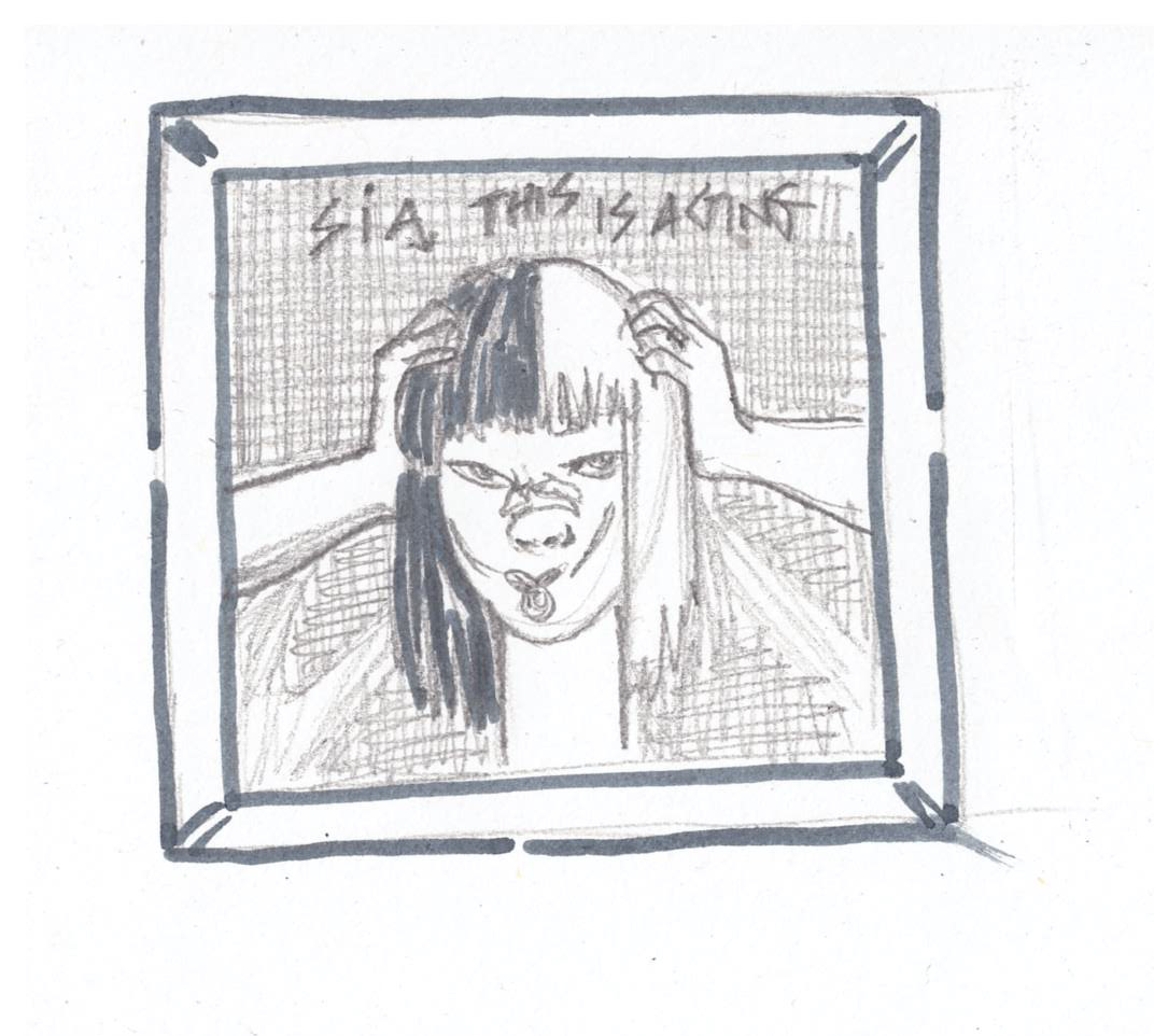 Sia - This Is Acting. Illustration: Ana Dukakis for Concrete