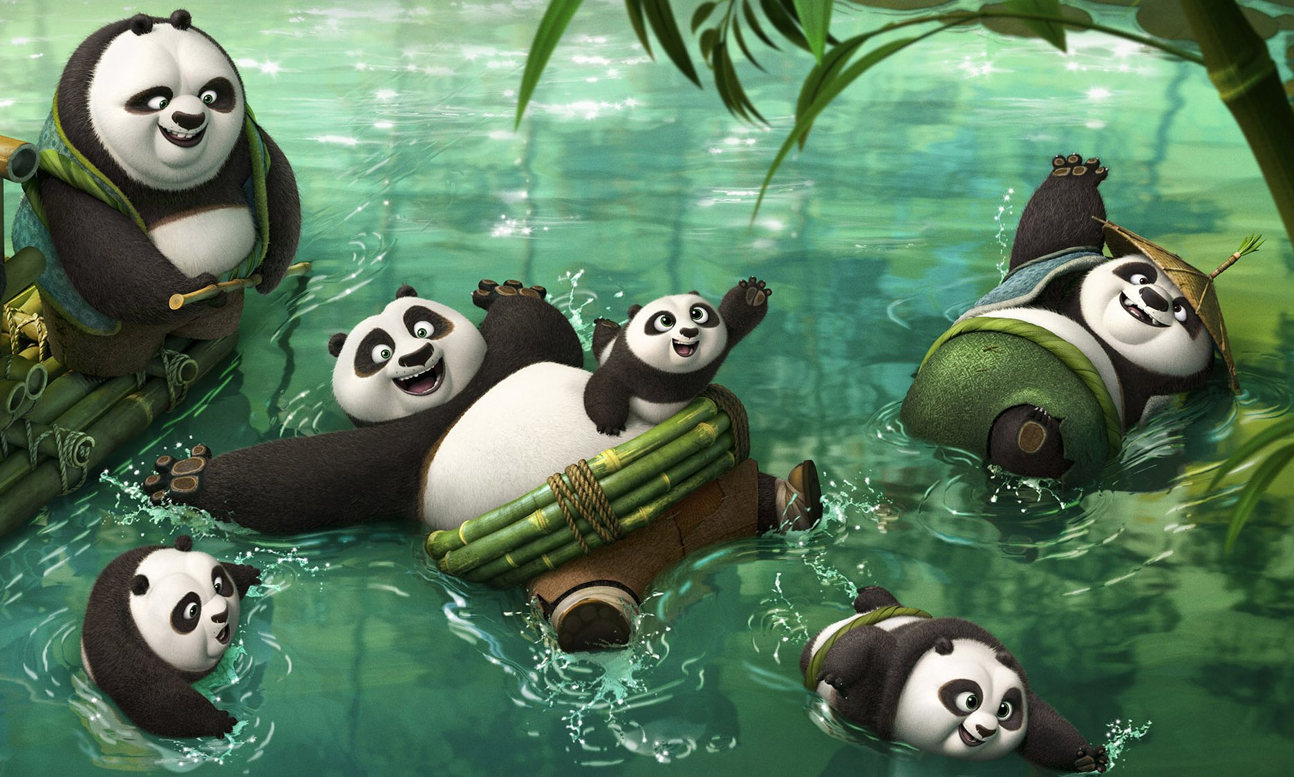 Po (Jack Black) is back for another Kung Fu adventure in Kung Fu Panda 3.