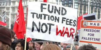 Tuition fees protest, Photo: LSE Library