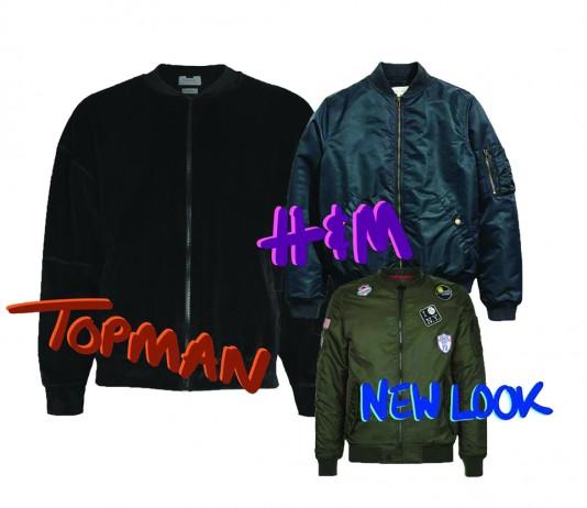 bomber jackets, illustration by Elley West