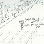 NUS protest cartoon, by Dougie Dodds