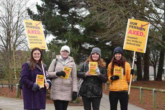 Staff pension strikes begin