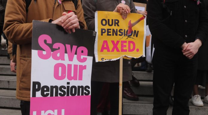 UEA lecturers have been on picket lines for the past month. Photo: Mia Shah