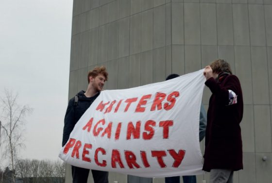 Writers join workers with series of cancelled events