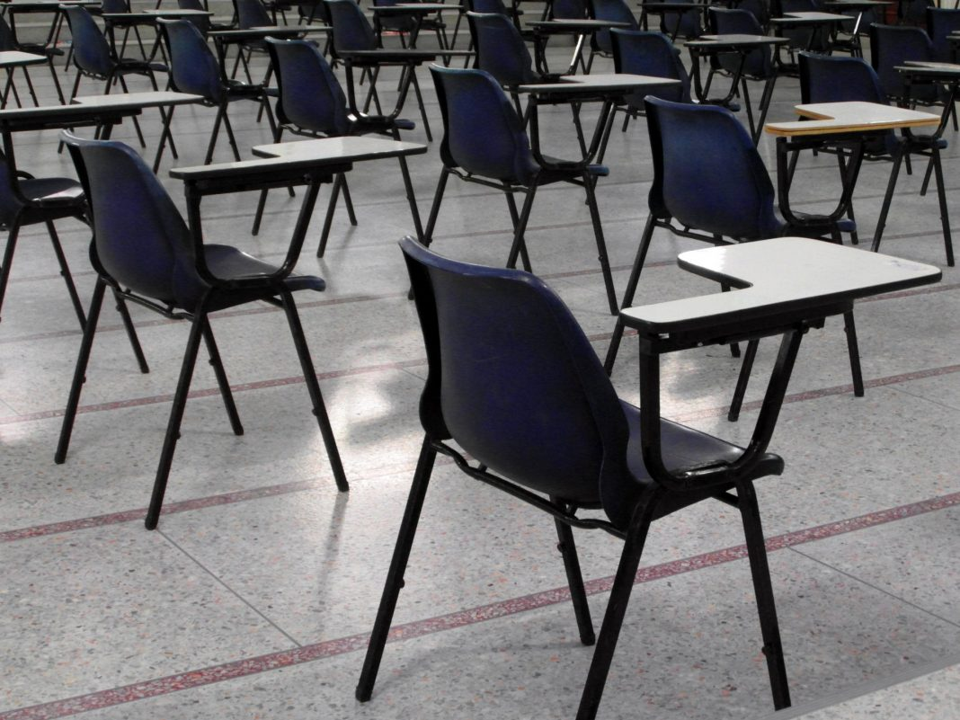 exam hall chairs from public domain pictures