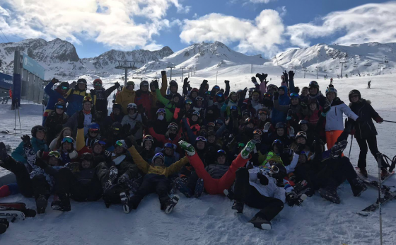 UEA Snow visit Andorra for annual ski trip