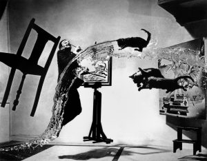 "PAR39240 Spanish painter Salvador DALI. ""Dali Atomicus."" 1948 © Philippe Halsman/Magnum Photos"
