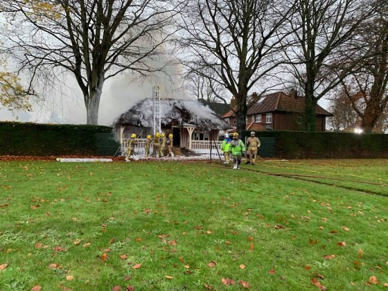 Firefighters tackle blaze on The Avenues