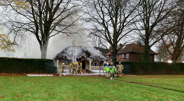 Norwich Heigham Park The Avenues fire