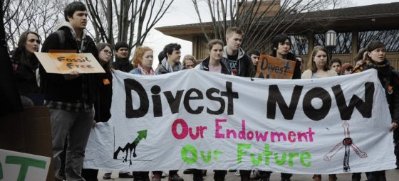 Universities divest amid protests