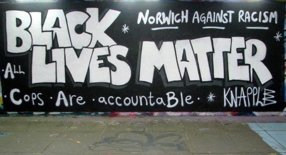 Pottergate underpass protest graffiti defaced